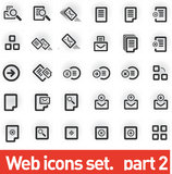 Vector icons set stock illustration