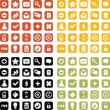 Vector icons set Royalty Free Stock Photo