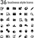 Vector icons set stock photography