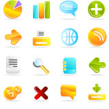 Vector icons set Royalty Free Stock Photo