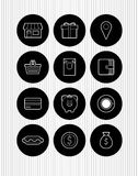 Vector icons Stock Photos
