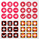 Vector icons set Stock Photos