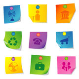 Vector icons Set eight Royalty Free Stock Photos