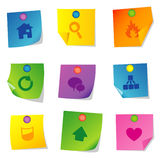 Vector icons Set four Royalty Free Stock Images