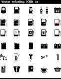 Vector icons set. Gas Station Stock Photos