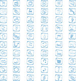 60 vector icons set. 60 hand drawn icons vector set Royalty Free Stock Images