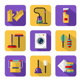 Vector icons set of housekeeping Stock Images