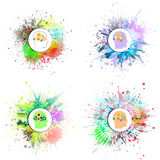 Vector icons set of human head with gears Stock Image