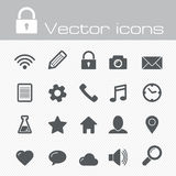 Vector icons set Stock Photo