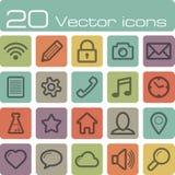 Vector icons set Royalty Free Stock Photos