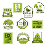 Vector icons set for nature ecology environment Stock Image