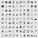 Vector Icons set in one color. Dark on light. Icons vector set for web and applications Stock Image
