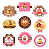Vector icons set for pastry dessert cakes Stock Photo