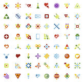 64 vector icons. Set of vector icons 64 pieces vector illustration