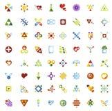 64 vector icons. Set of vector icons 64 pieces Stock Photos