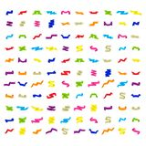 Vector icons set with ribbons stock illustration