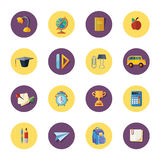 Vector icons set of school elements Royalty Free Stock Photos