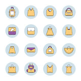 Vector icons set of shopping bags Stock Images