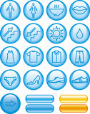 Vector Icons Set - Shopping Center Royalty Free Stock Image