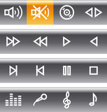 Vector Icons Set - Sound Royalty Free Stock Photo