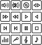 Vector Icons Set - Sound Stock Photography