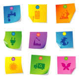 Vector icons Set ten Stock Photo