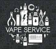 Vector icons set Vape service Stock Image