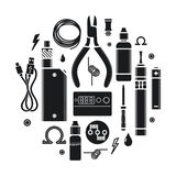 Vector icons set Vape Service royalty free stock photos