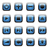 Vector icons set for web applications. Vector blue glossy icons set for web applications (set2 Royalty Free Stock Images