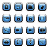 Vector icons set for web applications Royalty Free Stock Image