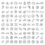 100 vector icons set Royalty Free Stock Image