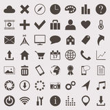 Vector icons set. Vector web icons set made in one color Stock Image