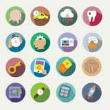 Vector icons set. For web and user interface and round buttons Royalty Free Stock Image