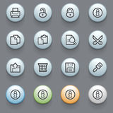 Document contour icons on gray background. Stock Photography