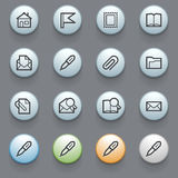 E-mail web icons on gray background. Royalty Free Stock Photo