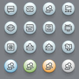 Communication web icons on gray background. Royalty Free Stock Photography