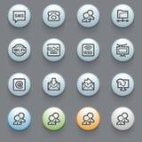 Communication web icons on gray background. Royalty Free Stock Photography