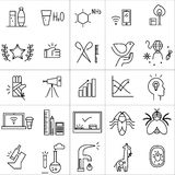 Vector icons set  on white background. Royalty Free Stock Photo