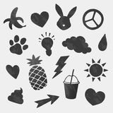 Vector icons shapes set Stock Photos