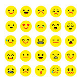 Vector icons of smiley faces emotion Cartoon Stock Photography