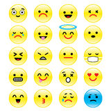 Vector icons of smiley faces emotion Cartoon Stock Images