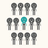 Vector icons of smiley faces,feeling Stock Images