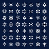 Vector icons snowflakes Royalty Free Stock Photography