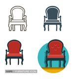 Vector icons of the sofa. Royalty Free Stock Image