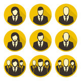 Vector icons staff Royalty Free Stock Images