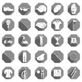 Vector icons and symbols of golf Stock Images