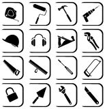 Vector icons of tool Royalty Free Stock Photography