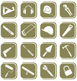 Vector icons of tool Royalty Free Stock Images