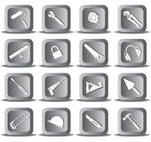 Vector icons of tool Royalty Free Stock Image