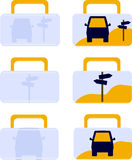 Vector icons of travel case Stock Photography